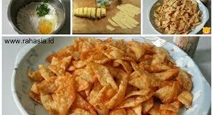 resep keripik kaca resep keripik pangsit pedas cuma 5000 dapet banyak resep