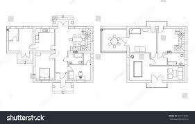 modern floor plan black white floor plans modern apartment stock vector 401713057