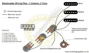 six string supplies u2014 how to wire a stratocaster