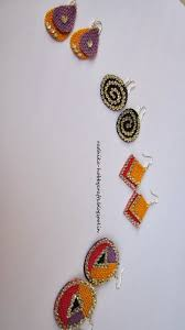 jute earrings quilled jhumkas and jute earrings jute and paddy