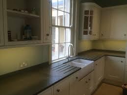 belfast sink in modern kitchen photographs of slate kitchen worktops work surfaces sink surrounds
