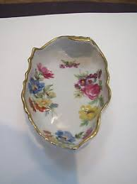 lefton china pattern lefton china 7164 painted floral pattern nut candy dish orig