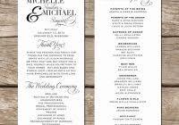 wedding programs exles free program wedding program ideas sles backupmark
