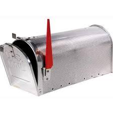 cassetta della posta americana postale maurer hangar argento alluminio