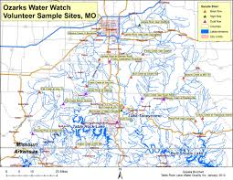 Ozarks Map Water Quality Monitoring Ozarks Water Watch