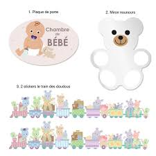 stickers chambre bébé nounours kit déco bébé nounours
