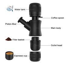 White Coffee Grinder Manual Espresso Maker U0026 Coffee Grinder Set Hand Grind And Brew