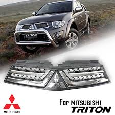 mitsubishi triton 2014 black grille grill with chrome logo fit for mitsubishi triton l200