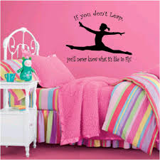 gymnast wall decal girl name gymnast gymnastics dance vinyl little diva girls vinyl wall decal decor princess