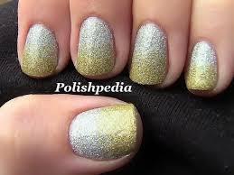 two toned glitter nail art youtube