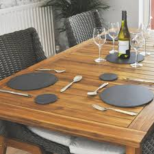 round slate placemats pack of 4 roman at home