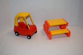 little tikes dollhouse furniture picnic table car vintage style