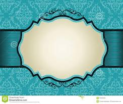 wedding invitation border designs aqua blue matik for