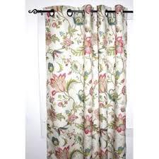 Floral Lined Curtains Ellis Curtain Brissac 63 Inch Long Jacobean Floral Print Lined