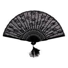black lace fan popular lace fan buy cheap lace fan lots from china lace fan