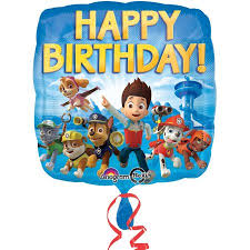 paw patrol happy birthday foil balloon walmart