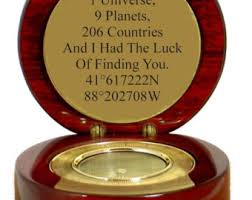gifts engraved engraved compass etsy