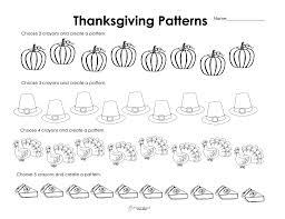 thanksgiving patterns thanksgiving style free worksheet