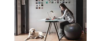 Sitting On A Medicine Ball At Desk Ergonomics Guru Guide To Comfort U0026 Efficiency U2013 Balance Yoga
