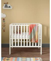 petite compact cot for baby to 1 year white pine nursery