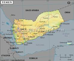 where is yemen on the map latitude and longitude map