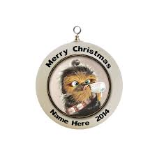 personalized star wars baby chewbacca christmas ornament custom