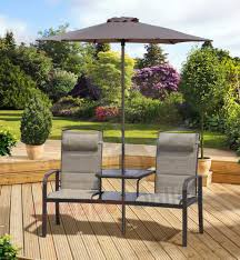 garden companion love seat with parasol furniture patio table 2