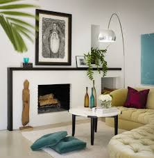 portland modern fireplace mantel family room scandinavian with