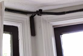curtains curtain rods ikea decorating curtain rods for bay windows