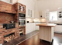 Kitchen Wall Decorating Ideas Best 25 Exposed Brick Kitchen Ideas On Pinterest Brick Wall