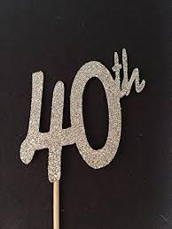 40th birthday decorations 12 40th glitter birthday cupcake toppers 40th birthday