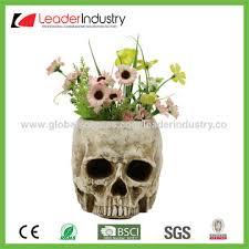 china decorative skull plant pots garden statue for outdoor decor