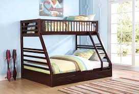Twin Over Queen Jason Espresso Bunk Bed With Drawers - Queen over queen bunk bed