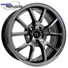Black Mustang Wheels Black Chrome 18x9 Fr500 Replica Mustang Wheel