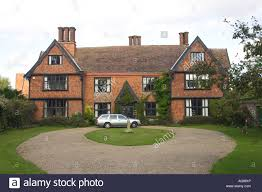 tudor house style troston hall a tudor style house in troston in suffolk uk stock