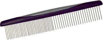 tooth comb petmate furbuster rotating tooth comb for dogs vibrant plum