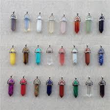 stone necklace pendants images Wholesale necklaces pendants hexagonal prism gemstone rock natural jpg