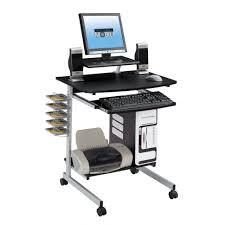 Portable Laptop Desk On Wheels Furniture Dual Computer Desk Computer Desk For Bedroom Portable