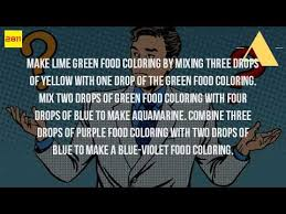 what colors can you make with food coloring youtube
