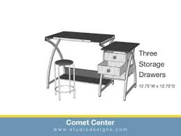 Drafting Table Set Comet Drafting Table Set With Drawers And Stool Deserres Art