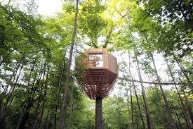 three house geometric treehouse is inspired by birds nests treehugger