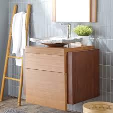 minimalist bamboo bathroom vanity design