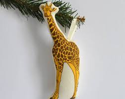 giraffe ornament etsy
