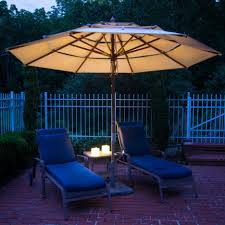 Rectangular Patio Umbrella With Solar Lights by White Patio Umbrella With Black Handler Combined With Dark Brown