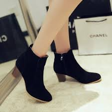 s zipper ankle boots solid block heels side zipper ankle boots novashe com