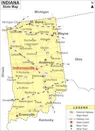 Indiana Usa Map by Indiana Map Jpg
