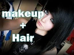 emo scene makeup and hair tutorial you
