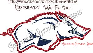 Razorback Crib Bedding by Arkansas Razorbacks Applique Embroidery Design Wooo Pig