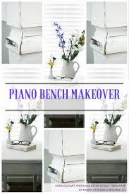 piano bench refinished using decoart americana decor chalky