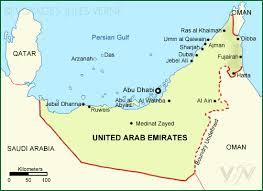 map of the uae united arab emirates map